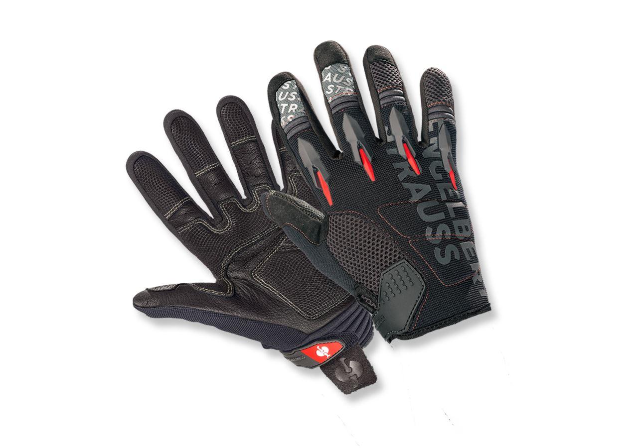 Doplňky: e.s. Detské rukavice pro mechaniky Viper + černá/červená