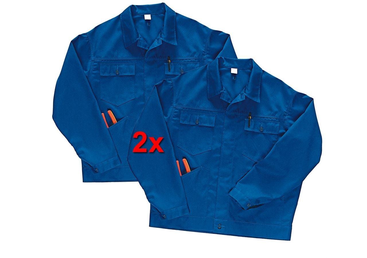 Pracovní bundy: Pracovní bunda Economy, 2 ks v balení + modrá chrpa