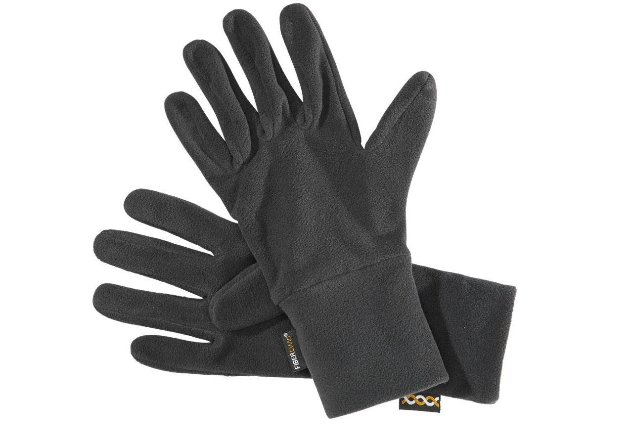 Doplňky: e.s. FIBERTWIN® microfleece rukavice + černá