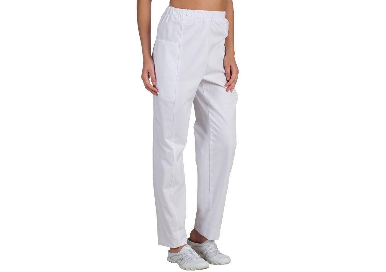 Pracovní kalhoty: Dámské kalhoty Gabi + bílá