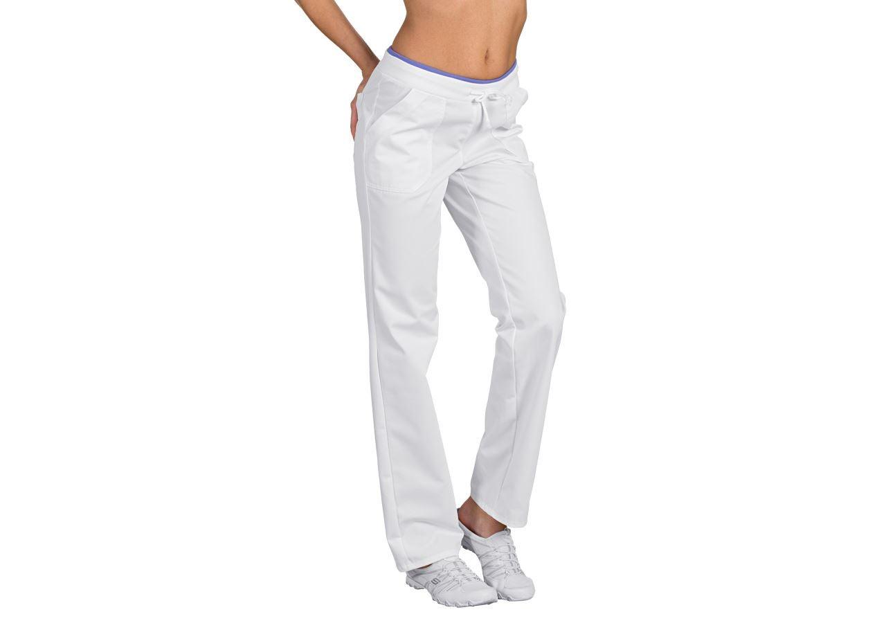 Pracovní kalhoty: Dámské kalhoty Camilla + bílá