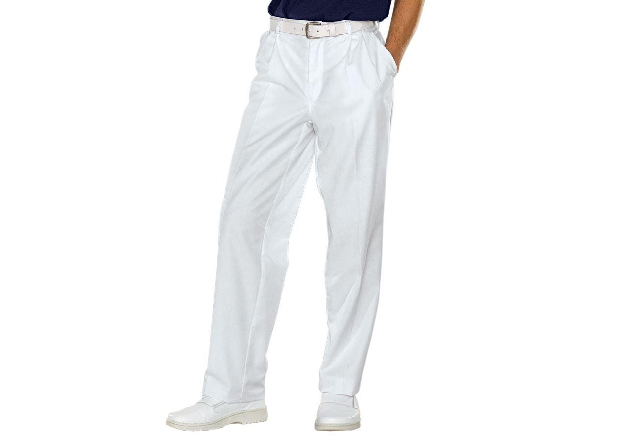 Pracovní kalhoty: Pánské pracovní kalhoty Tom + bílá