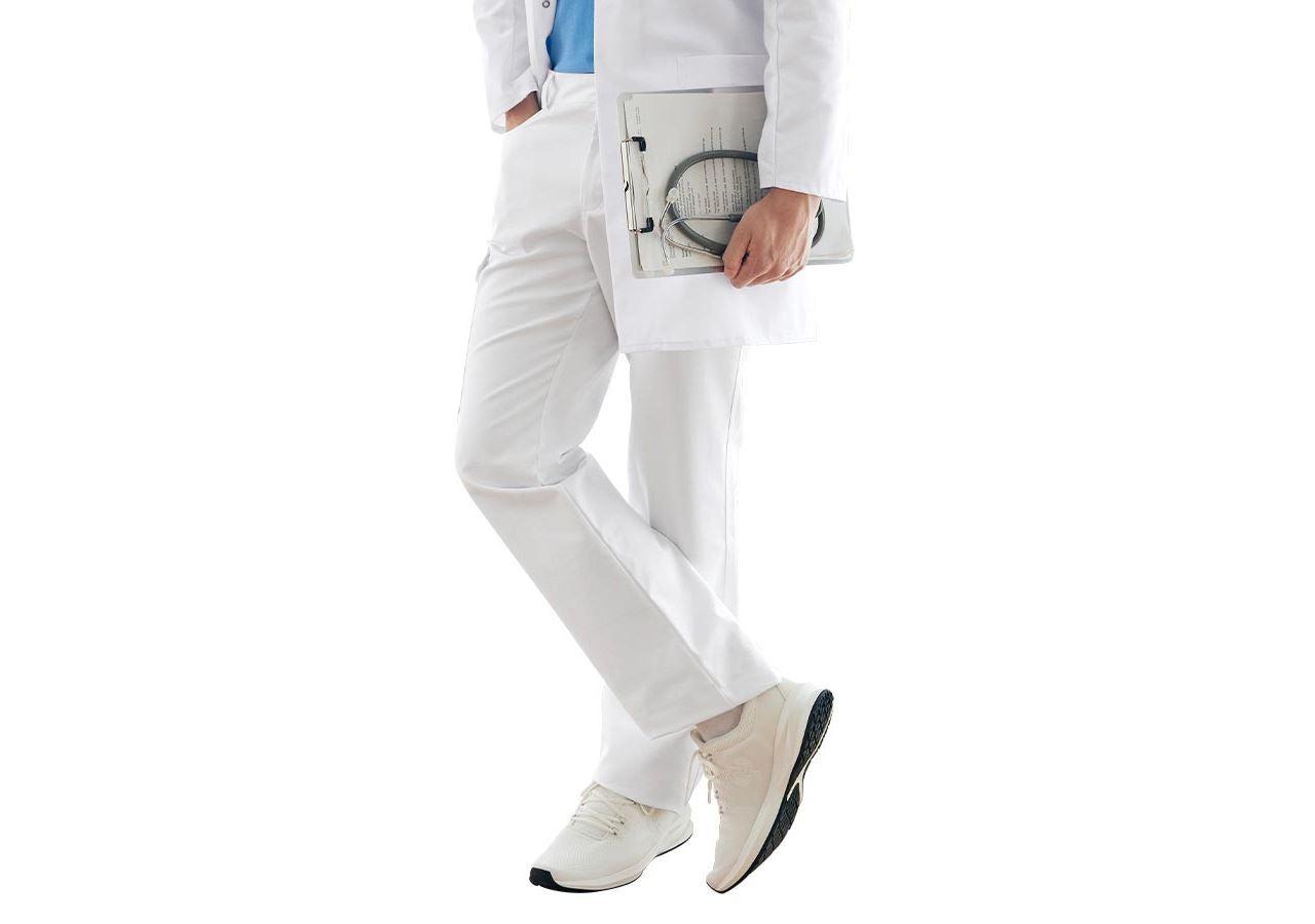 Pracovní kalhoty: Pánské kalhoty Oskar + bílá