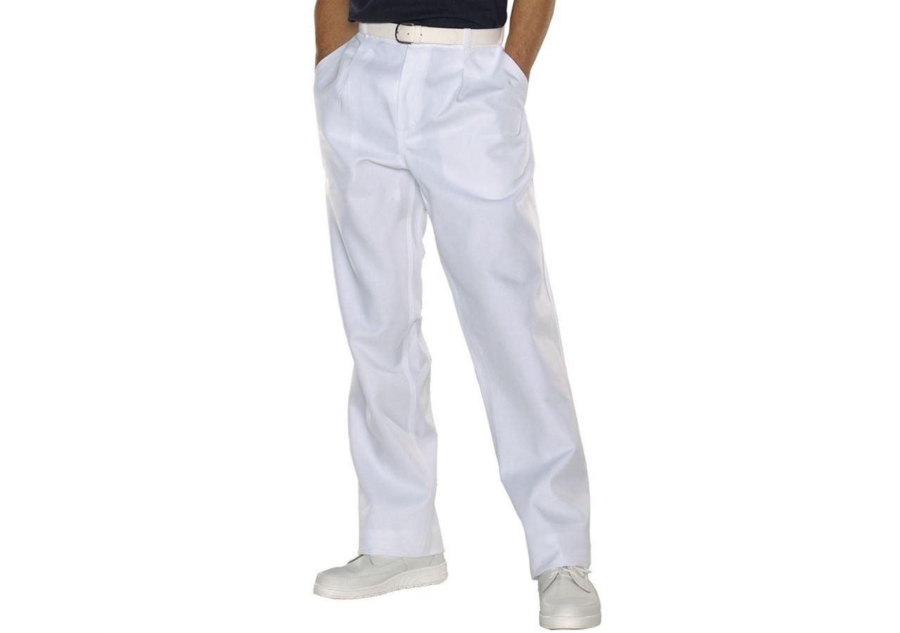 Pracovní kalhoty: Pánské pracovní kalhoty Christoph + bílá