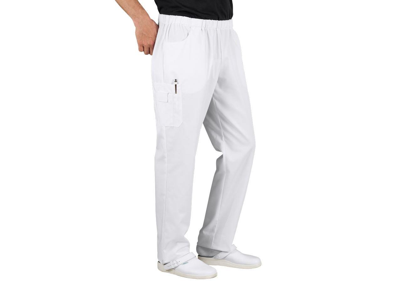 Pracovní kalhoty: Pohodlné kalhoty Peter + bílá