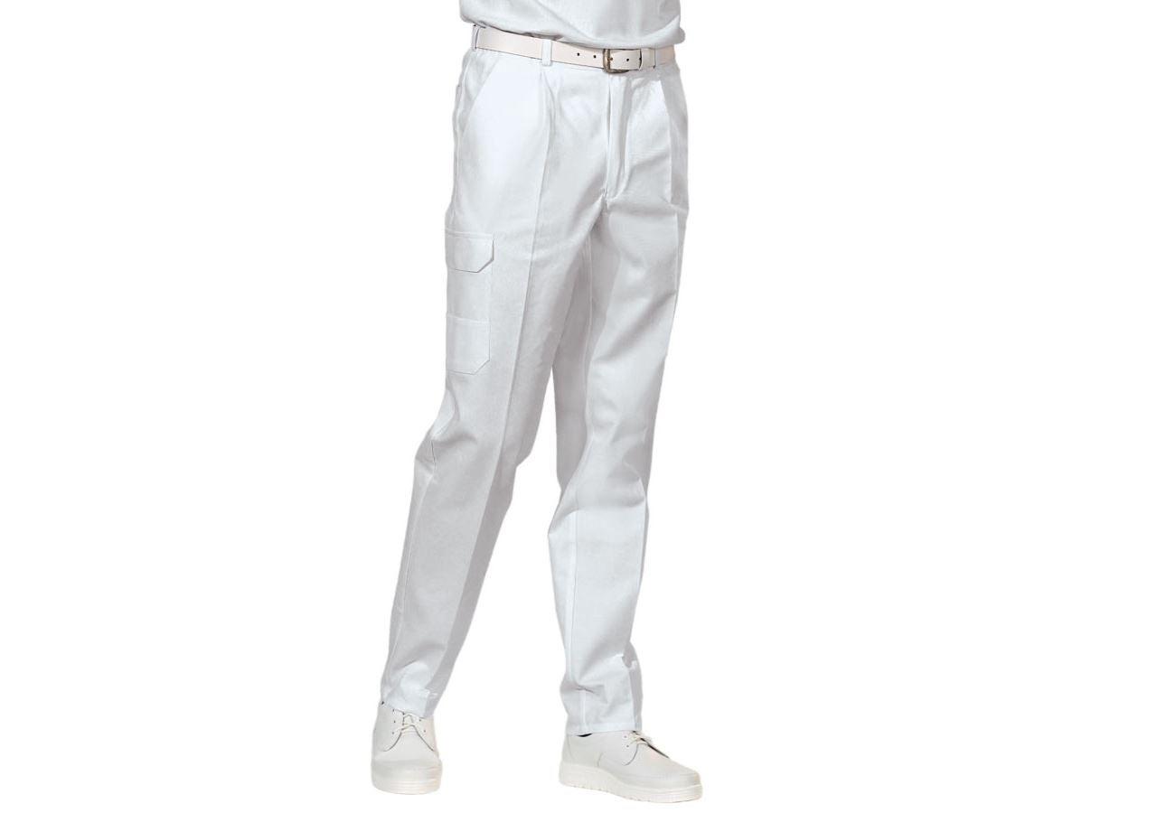 Pracovní kalhoty: Pánské pracovní kalhoty Jack + bílá