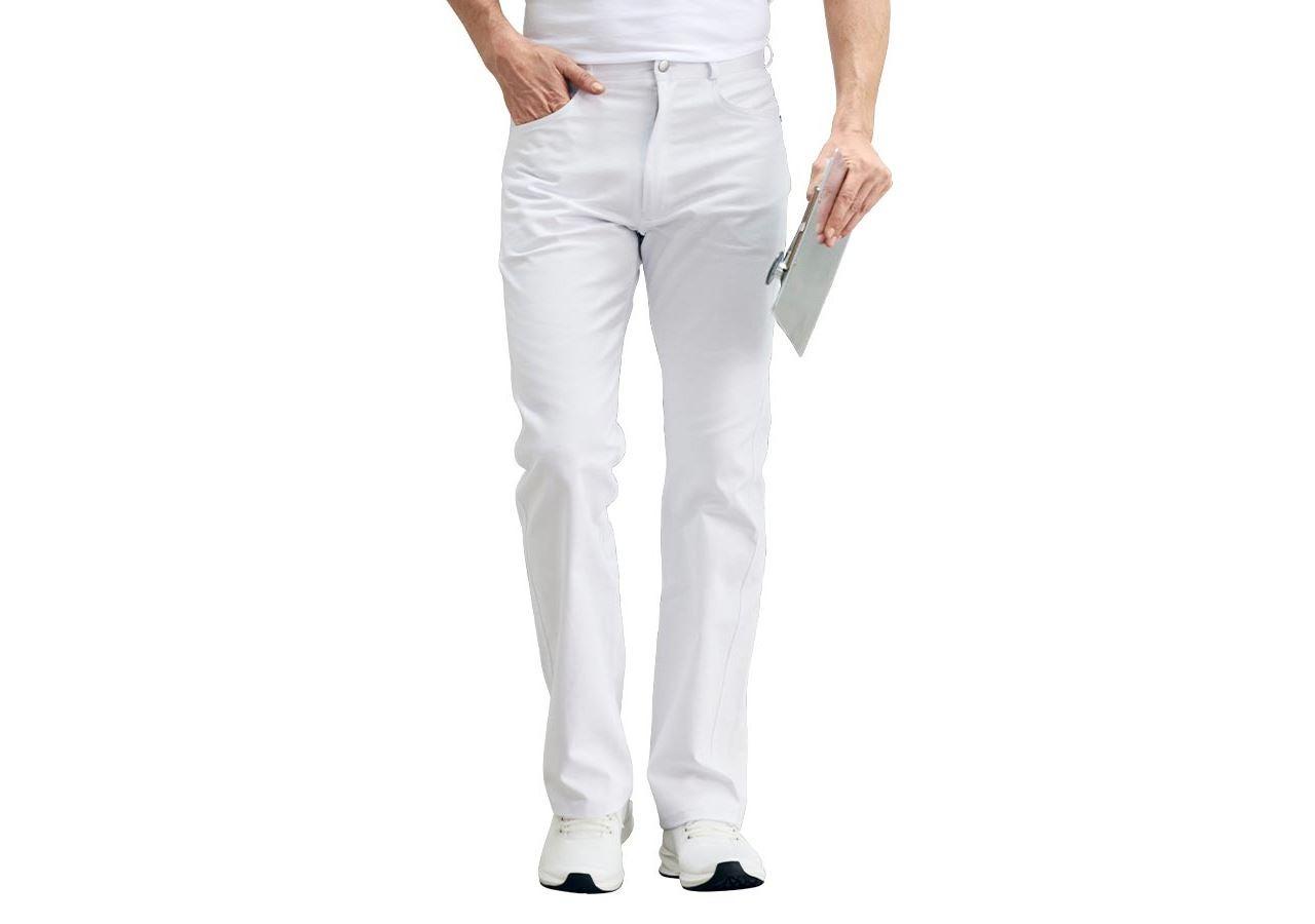 Pracovní kalhoty: Pánské džíny Daniel + bílá