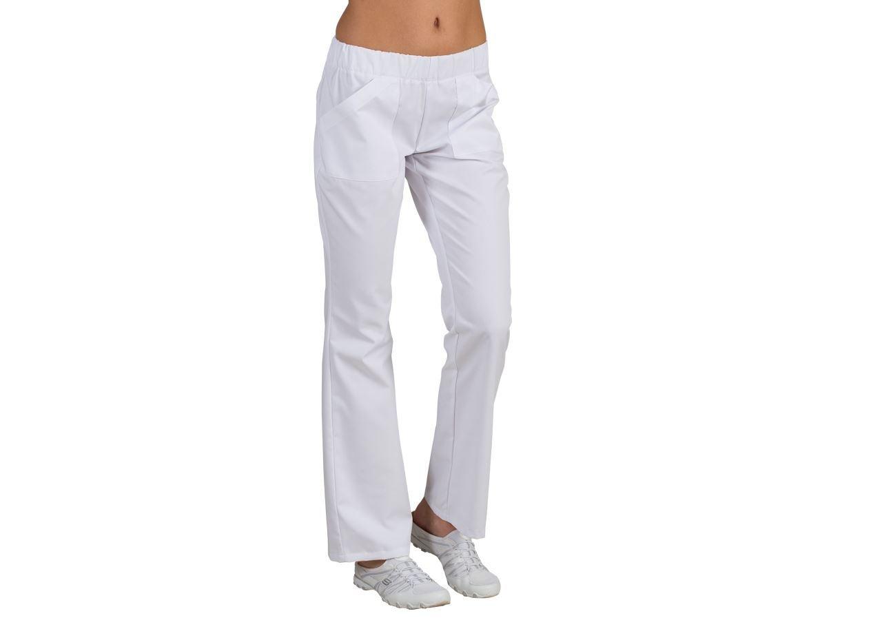 Pracovní kalhoty: Zdravotnické kalhoty Melanie + bílá