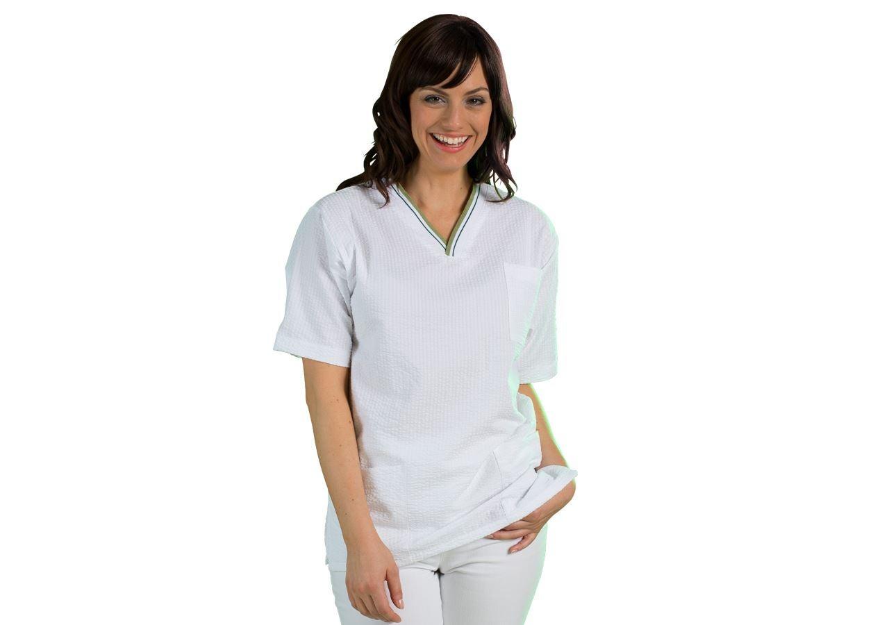 Trička | Svetry | Košile: Navlékací kazak Elvira + bílá/olivová zelená