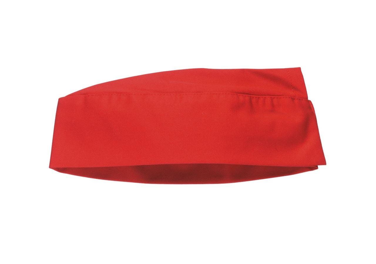 Doplňky: Látková lodička + červená
