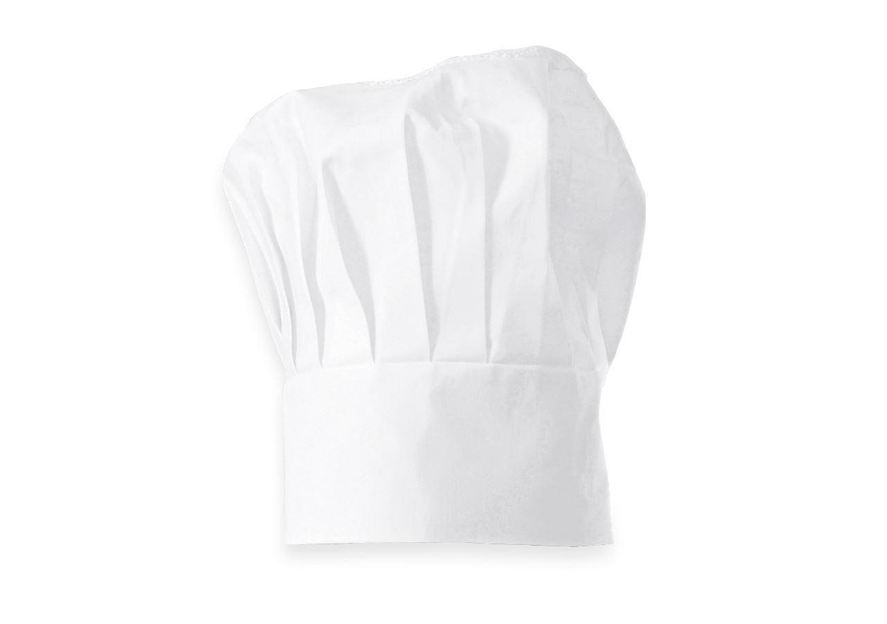 Doplňky: Kuchařská čepice + bílá