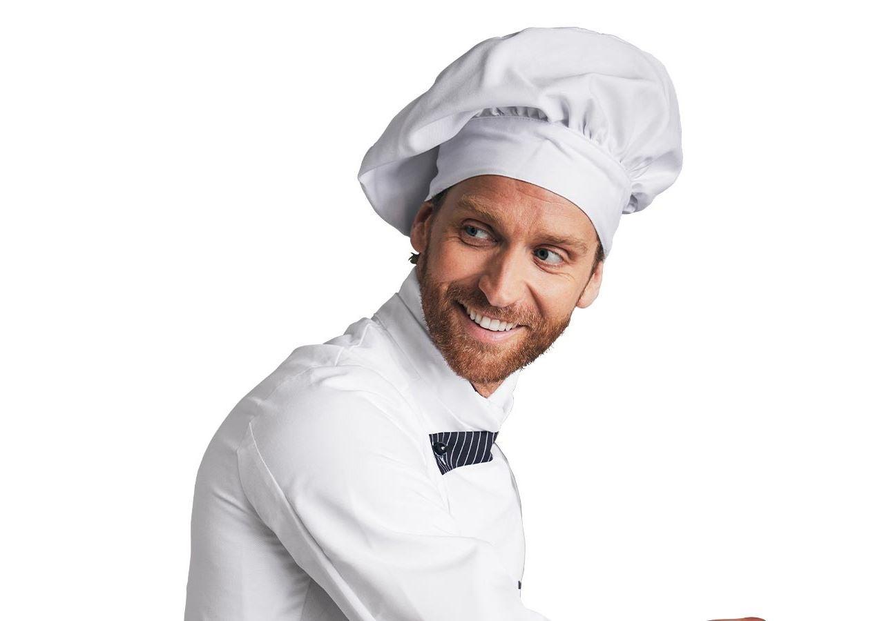 Doplňky: Francouzská kuchařská čepice + bílá