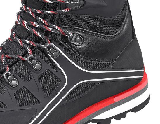 S3: e.s. S3 Bezpečnostní vysoká obuv Polyxo high + černá/červená 2