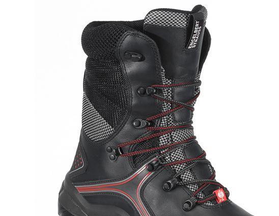 S3: e.s. S3 Bezpečnostní vysoká obuv Pollux + černá/červená 2