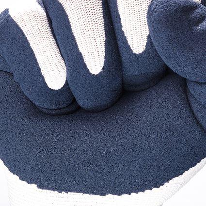Povrstvené: e.s. Rukavice z latexové pěny recycled, 3 páry + modrá/bílá 2