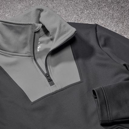 Trička, svetry & košile: Funkční-Troyer thermo stretch e.s.concrete + antracit/perlově šedá 2