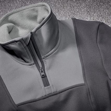 Trička | Svetry | Košile: Funk.Troyer thermo stretch e.s.concrete, dámská + antracit/perlově šedá 2