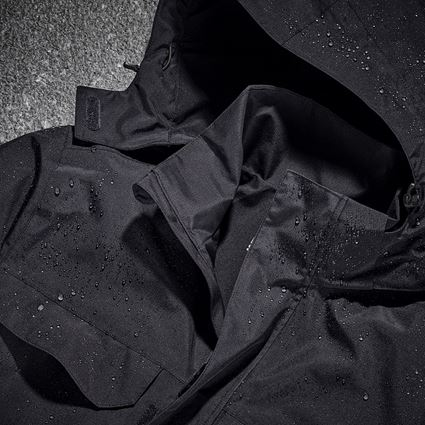 Pracovní bundy: Bunda do deště e.s.concrete + černá 2
