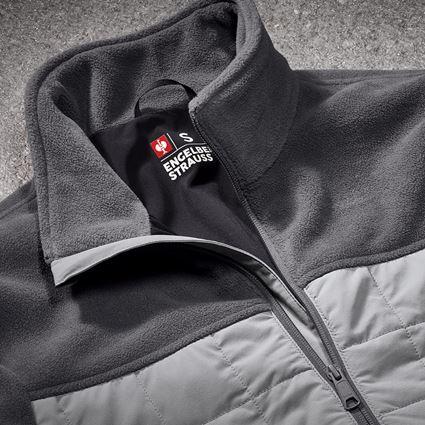 Pracovní bundy: Fleecová bunda hybrid e.s.concrete + antracit/perlově šedá 2