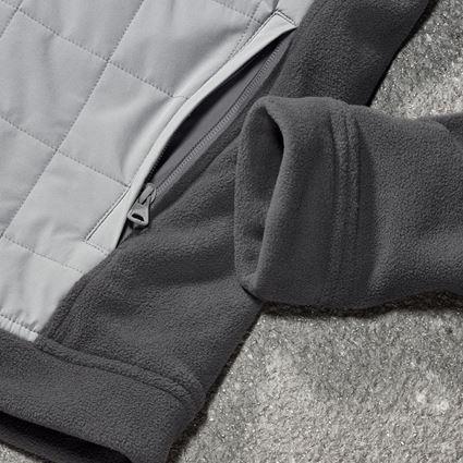 Pracovní bundy: Fleecová bunda s kapucí hybrid e.s.concrete + antracit/perlově šedá 2