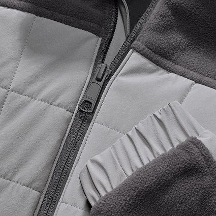Pracovní bundy: Fleecová bunda hybrid e.s.concrete, dámská + antracit/perlově šedá 2