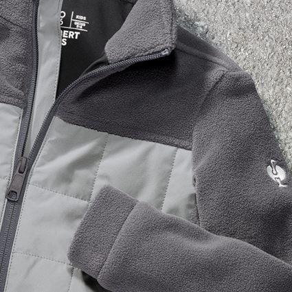 Bundy: Fleecová bunda hybrid e.s.concrete, dětská + antracit/perlově šedá 2