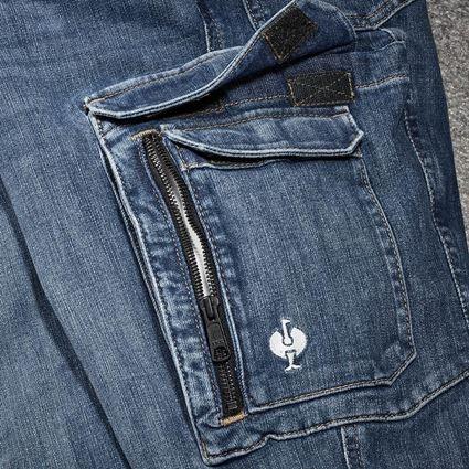 Pracovní kalhoty: Pracovní džíny cargo e.s.concrete + stonewashed 2