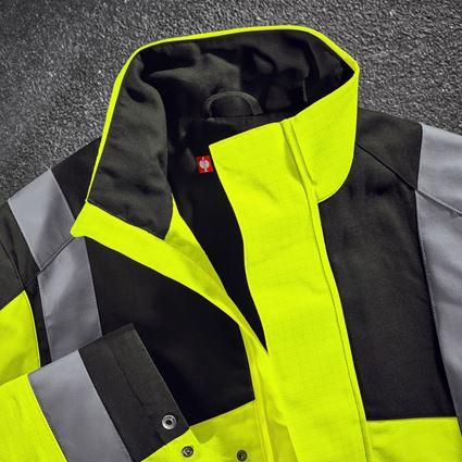 Pracovní bundy: e.s. Pracovní bunda multinorm high-vis + výstražná žlutá/černá 2