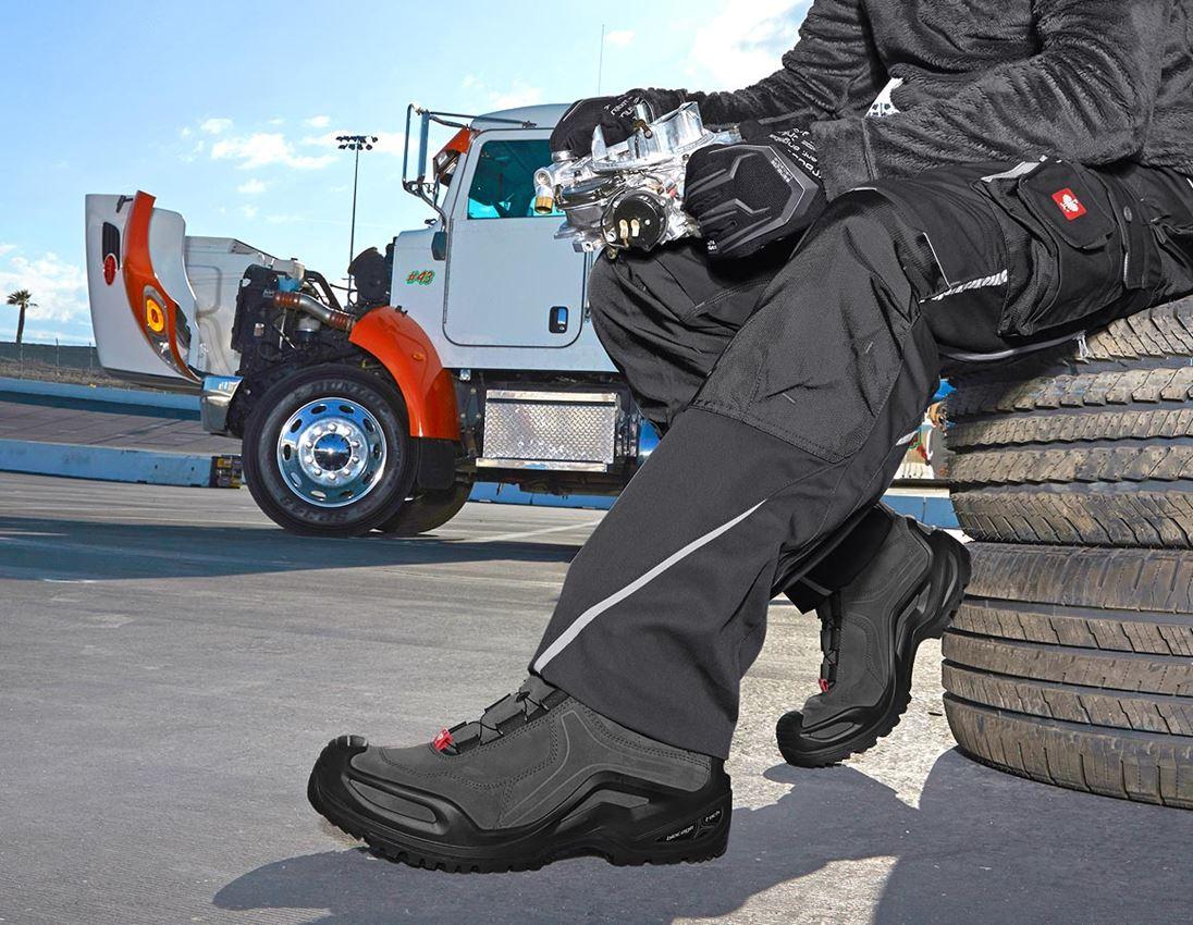 O2: e.s. O2 Pracovní obuv Apate mid + antracit/černá
