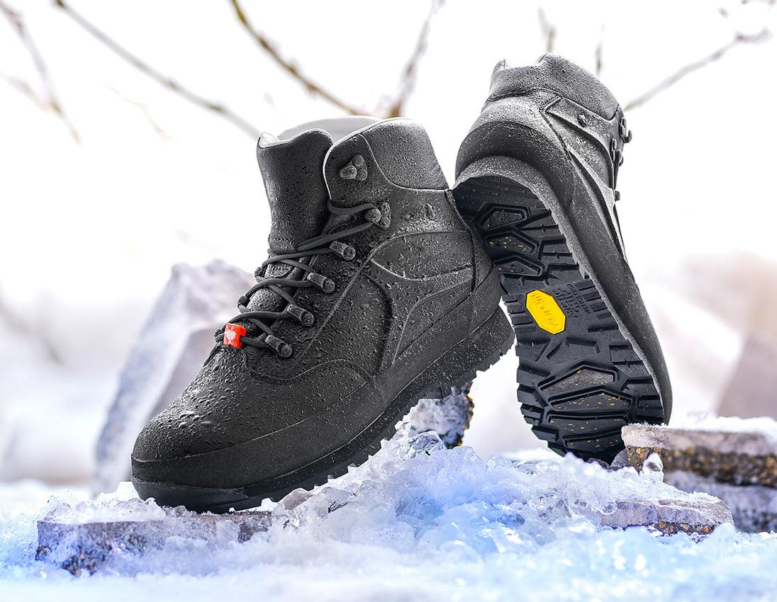 O2: e.s. O2 Zimní pracovní obuv Priapos mid + černá