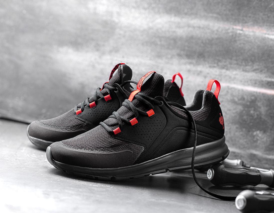 O1: e.s. O1 Pracovní obuv Honnor, pánská + oxidově černá/červená