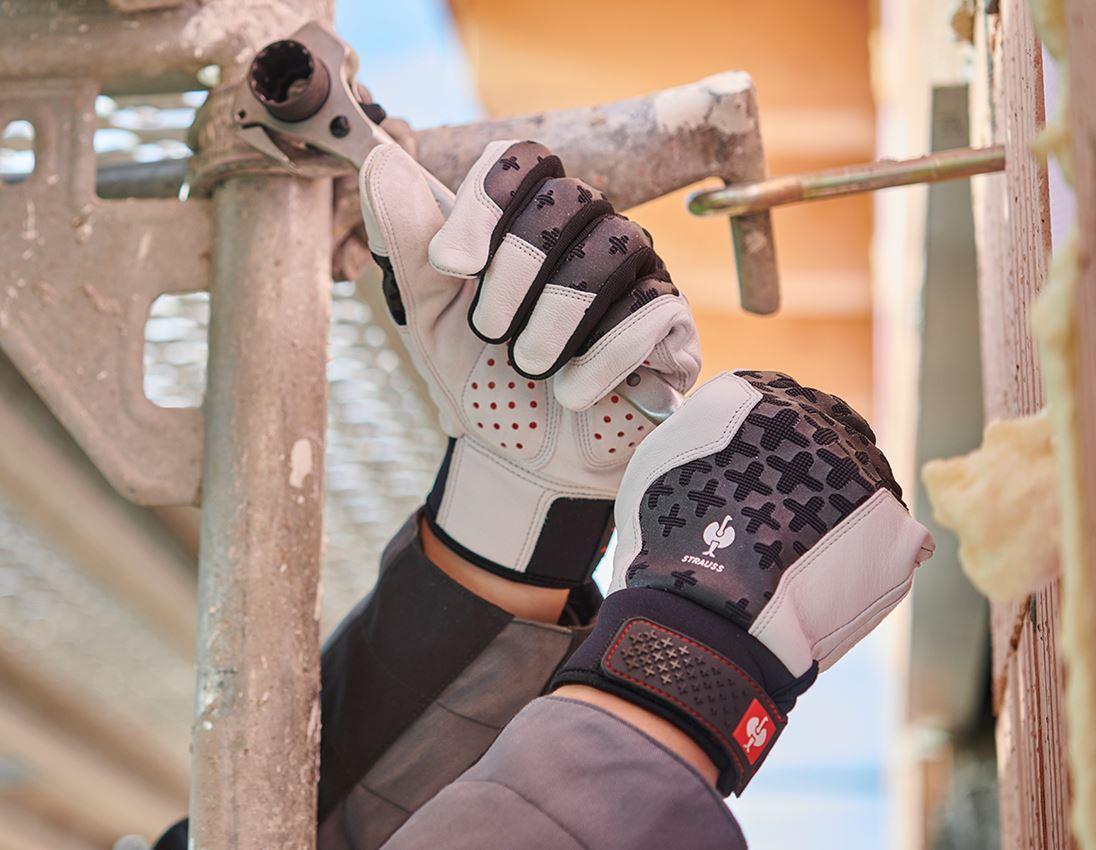 Kůže: e.s. Kožené montážní rukavice ergoplus