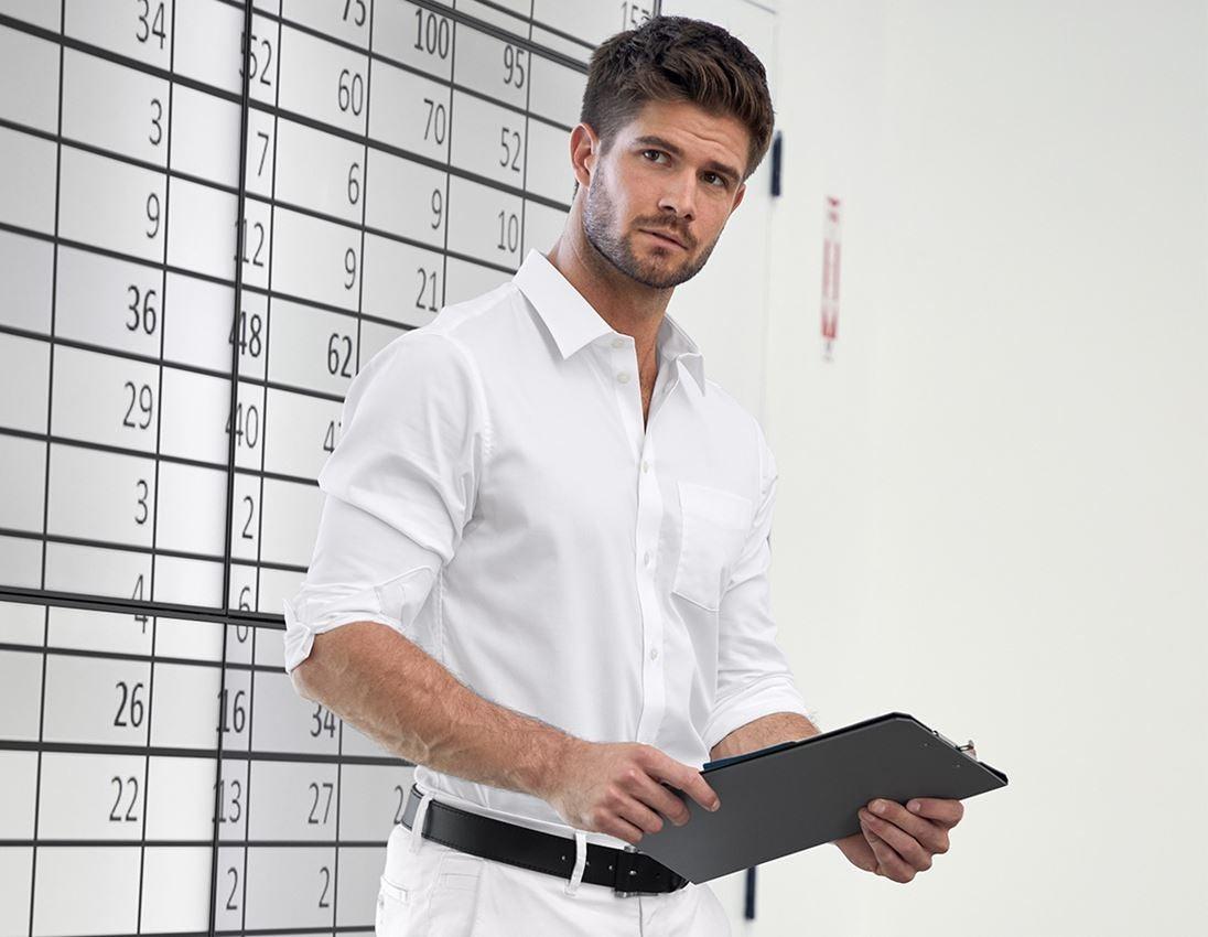 Trička, svetry & košile: e.s. Business košile cotton stretch, slim fit + bílá
