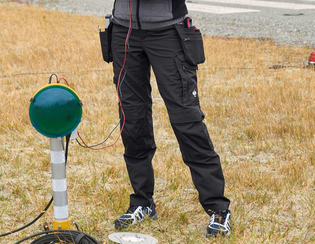Pracovní kalhoty: Kalhoty do pasu e.s.concrete solid, dámská + černá