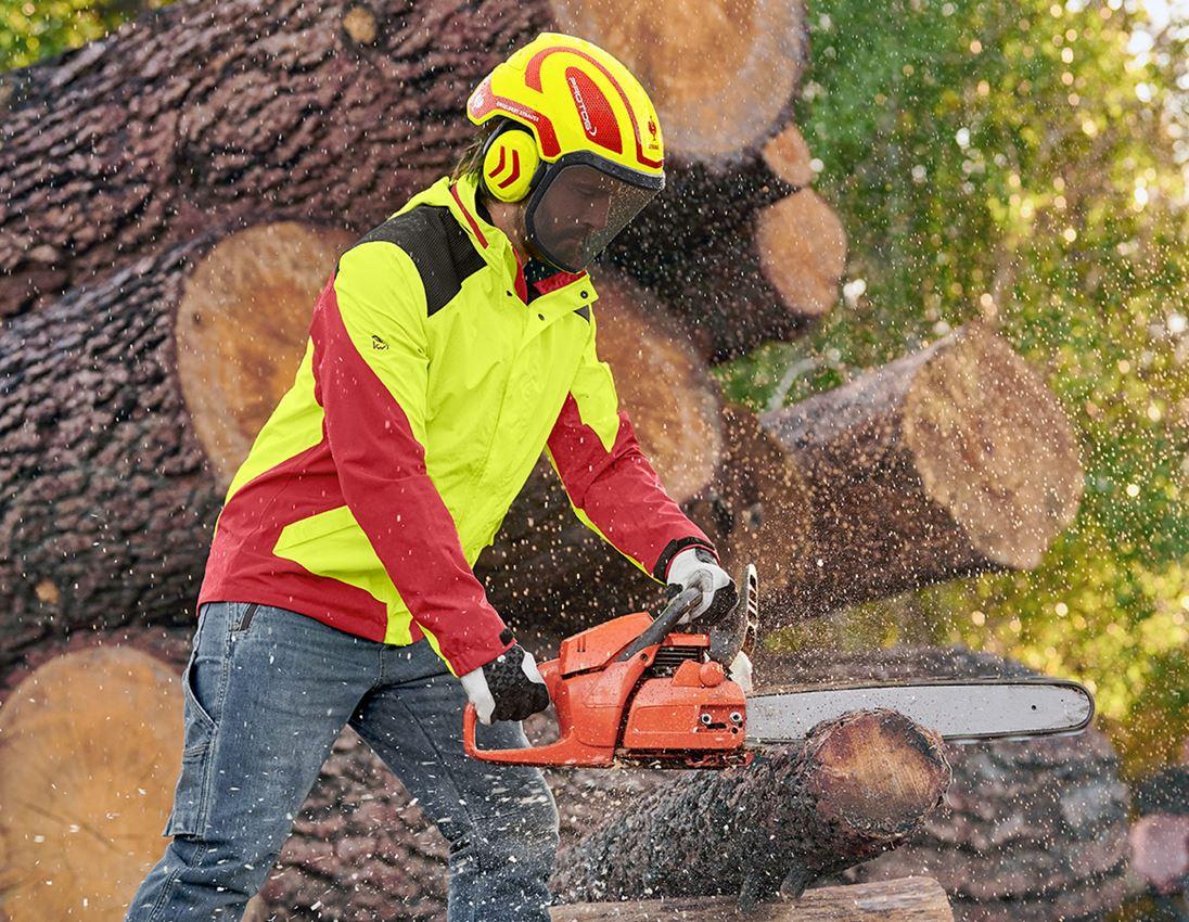 Ochranné přilby: e.s. Lesnická helma Protos® + výstražná žlutá/ohnivě červená 1