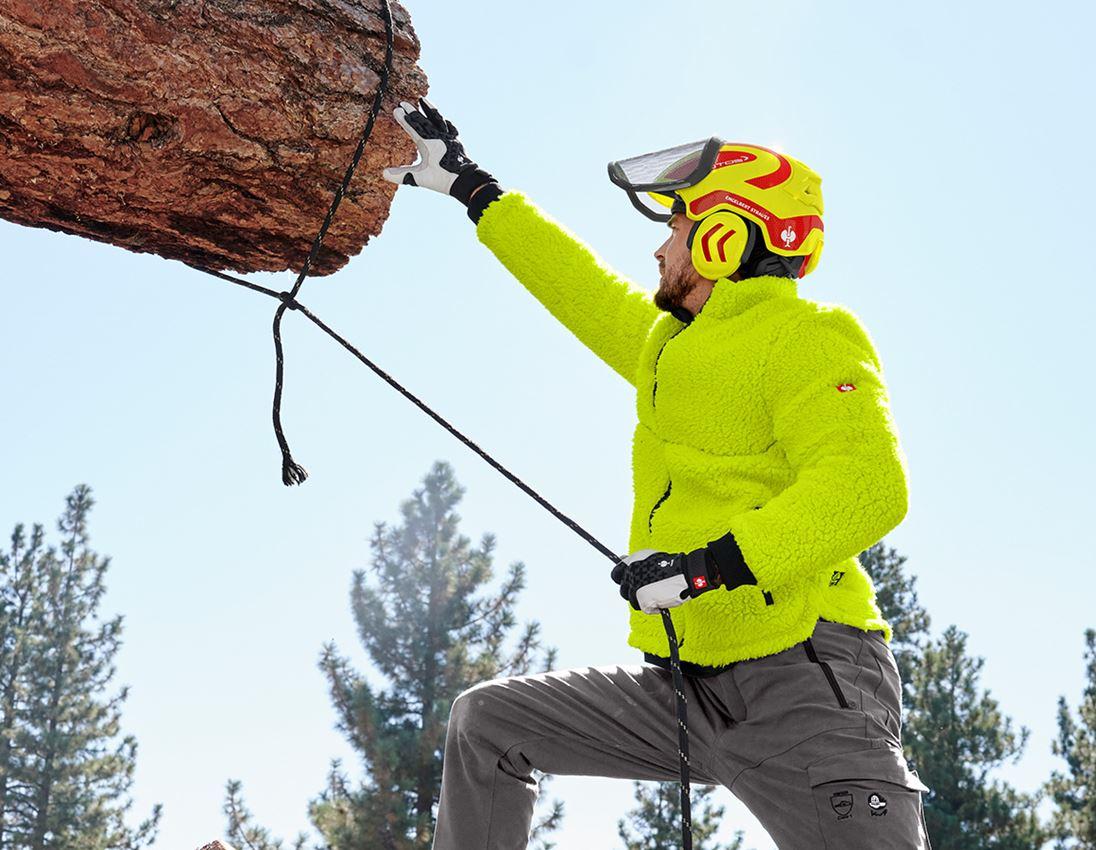 Ochranné přilby: e.s. Lesnická helma Protos® + výstražná žlutá/ohnivě červená 2