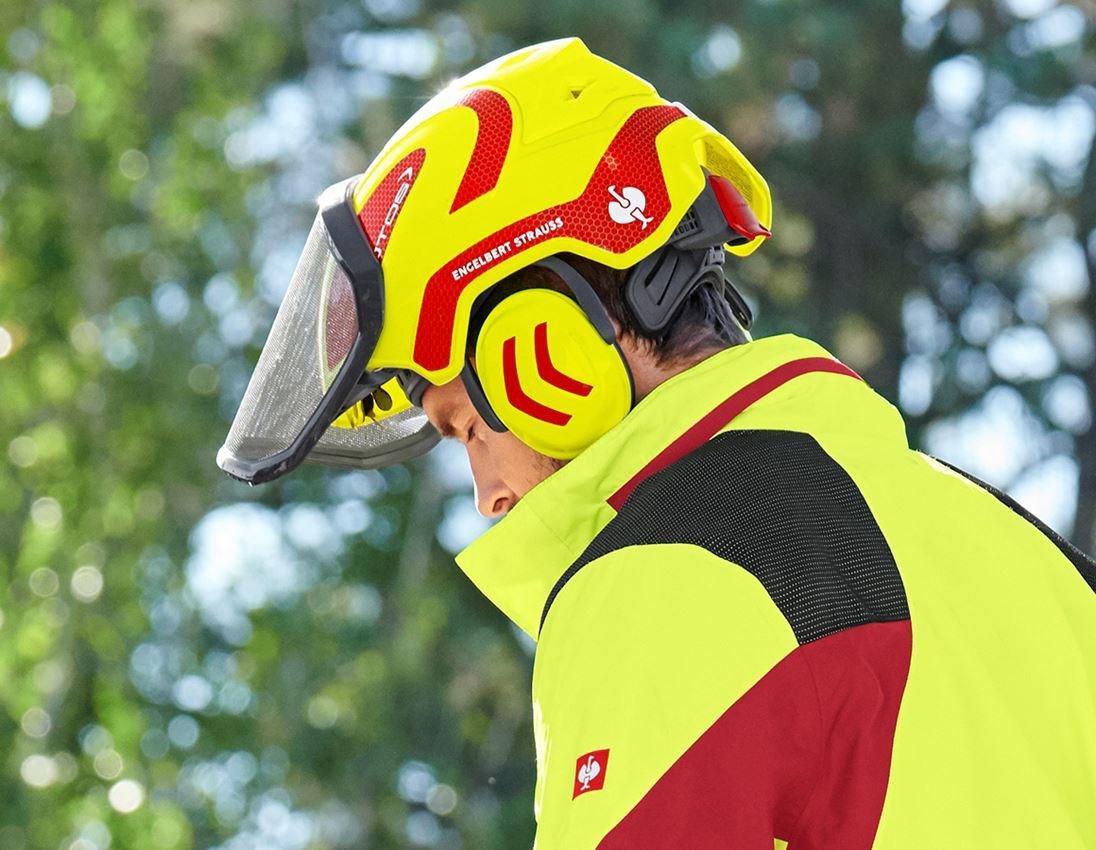Ochranné přilby: e.s. Lesnická helma Protos® + výstražná žlutá/ohnivě červená 3