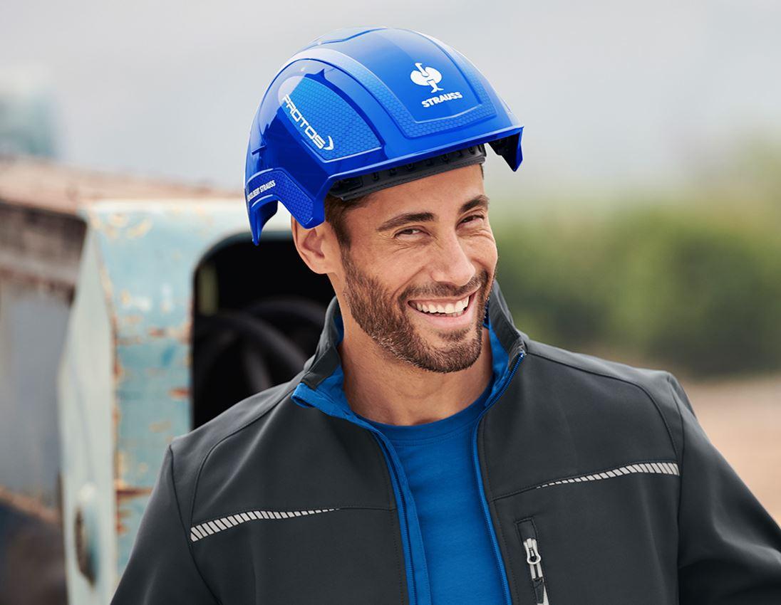 Ochranné přilby: e.s. Pracovní přilba Protos® + modrá/enciánově modrá