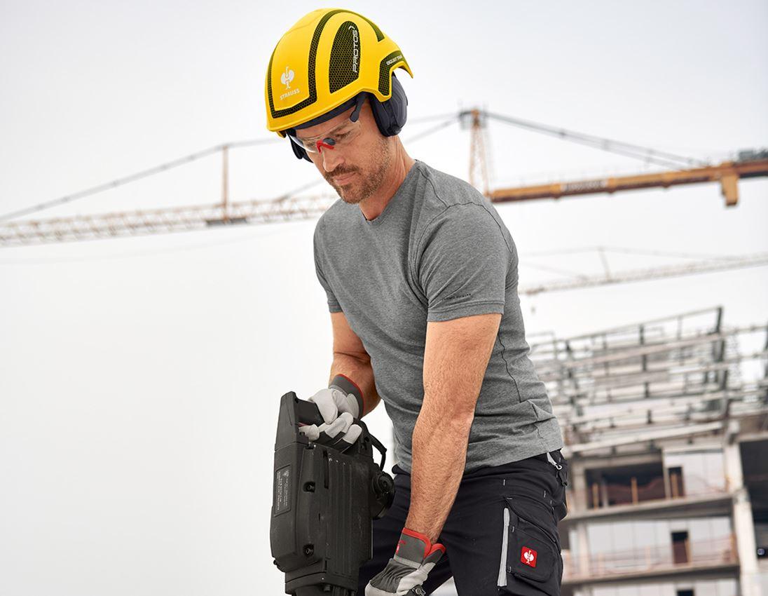 Ochranné přilby: e.s. Pracovní přilba Protos® + žlutá/černá 2