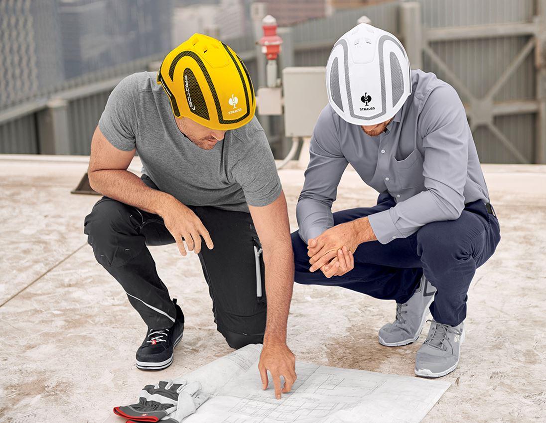 Ochranné přilby: e.s. Pracovní přilba Protos® + žlutá/černá 3