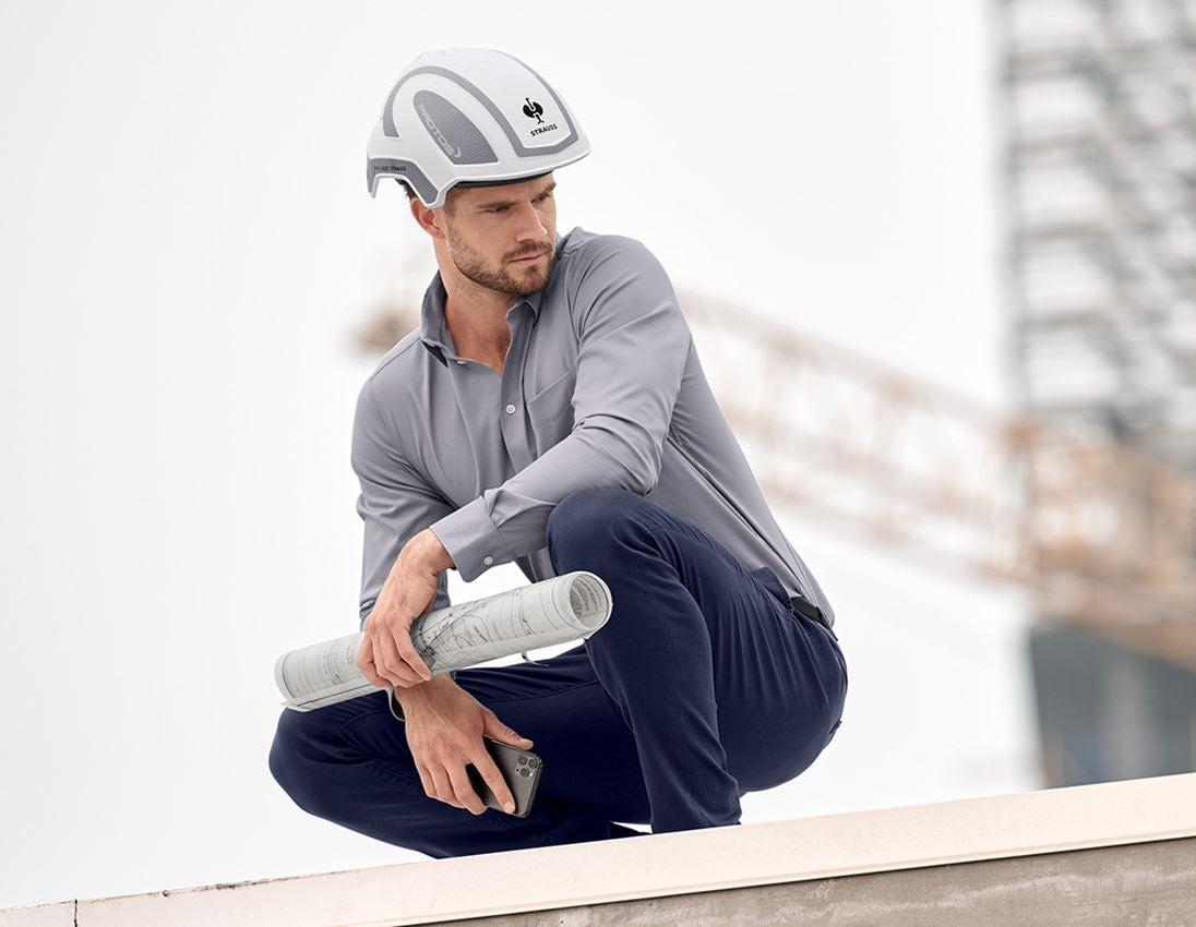 Ochranné přilby: e.s. Pracovní přilba Protos® + bílá/platinová 1