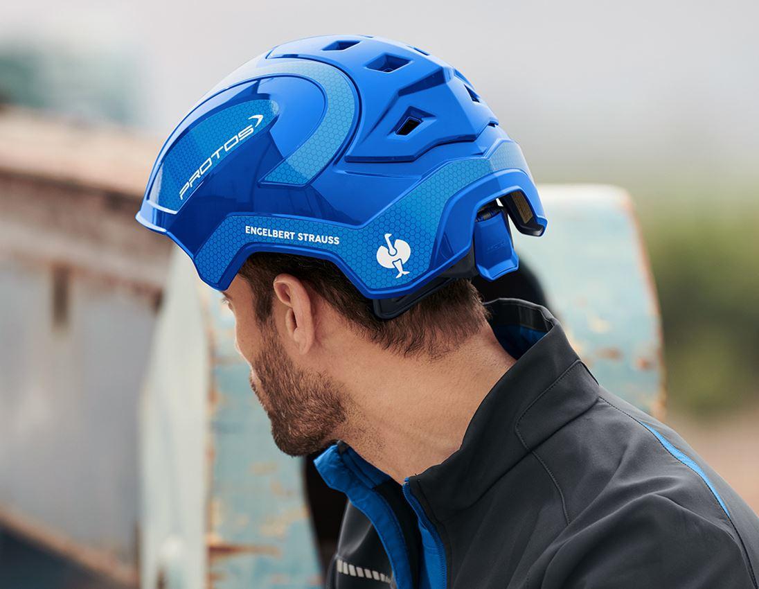 Ochranné přilby: e.s. Pracovní přilba Protos® + modrá/enciánově modrá 3