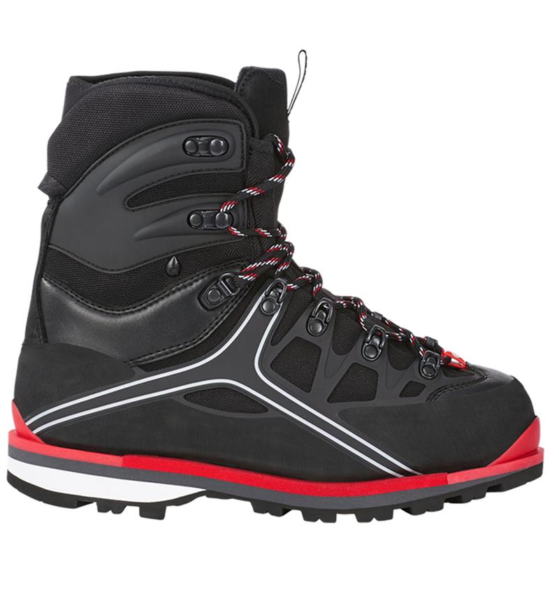 S3: e.s. S3 Bezpečnostní vysoká obuv Polyxo high + černá/červená