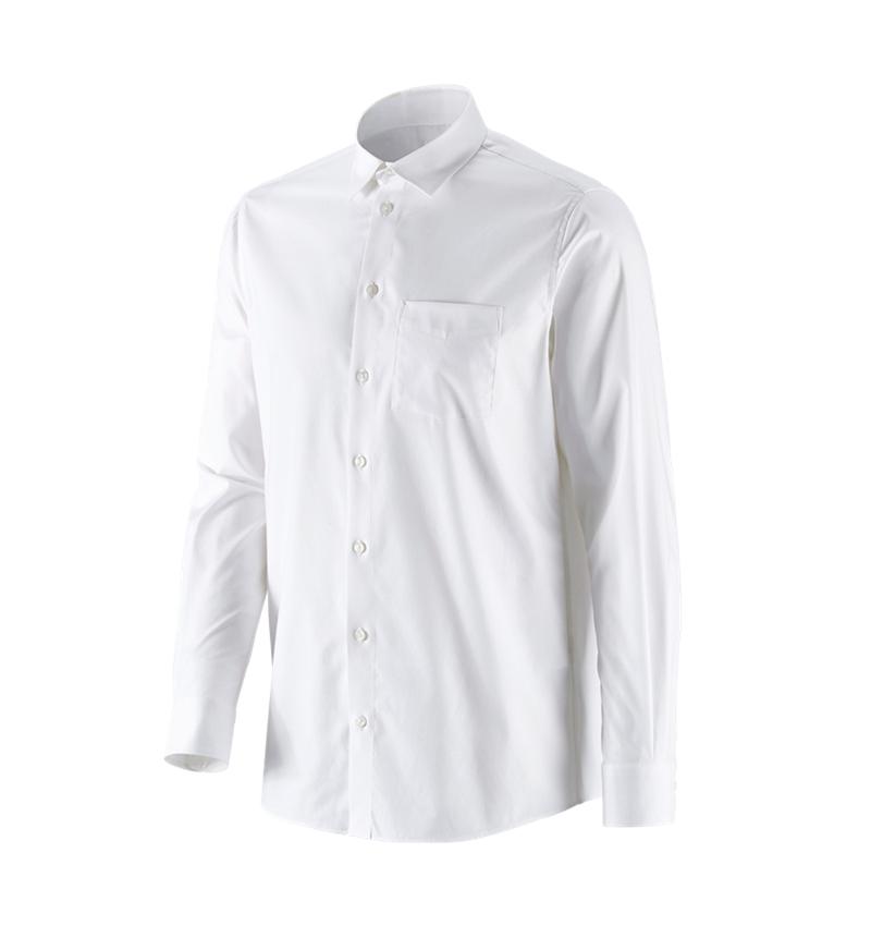 Trička, svetry & košile: e.s. Business košile cotton stretch, comfort fit + bílá