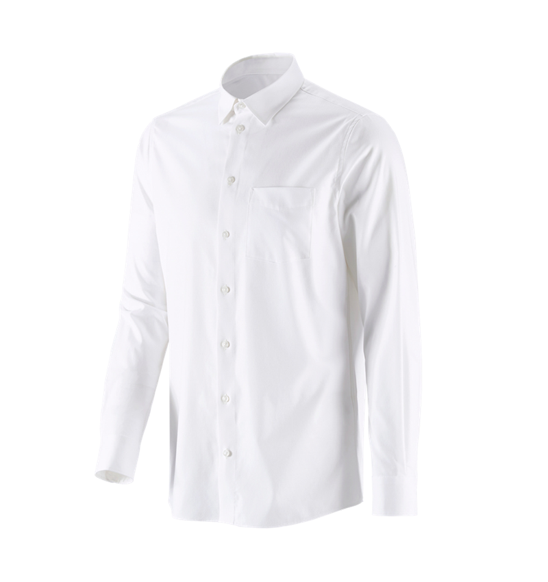 Trička, svetry & košile: e.s. Business košile cotton stretch, regular fit + bílá