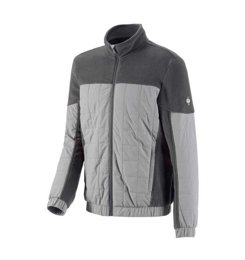 Pracovní bundy: Fleecová bunda hybrid e.s.concrete + antracit/perlově šedá