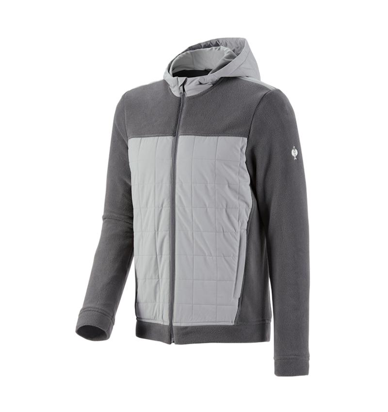 Pracovní bundy: Fleecová bunda s kapucí hybrid e.s.concrete + antracit/perlově šedá