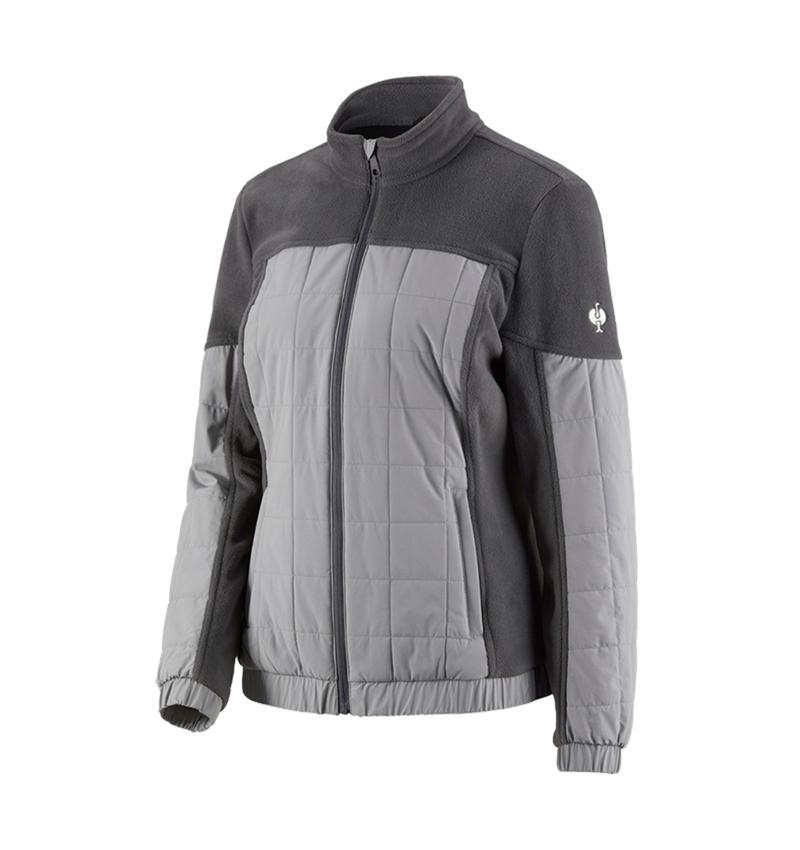 Pracovní bundy: Fleecová bunda hybrid e.s.concrete, dámská + antracit/perlově šedá