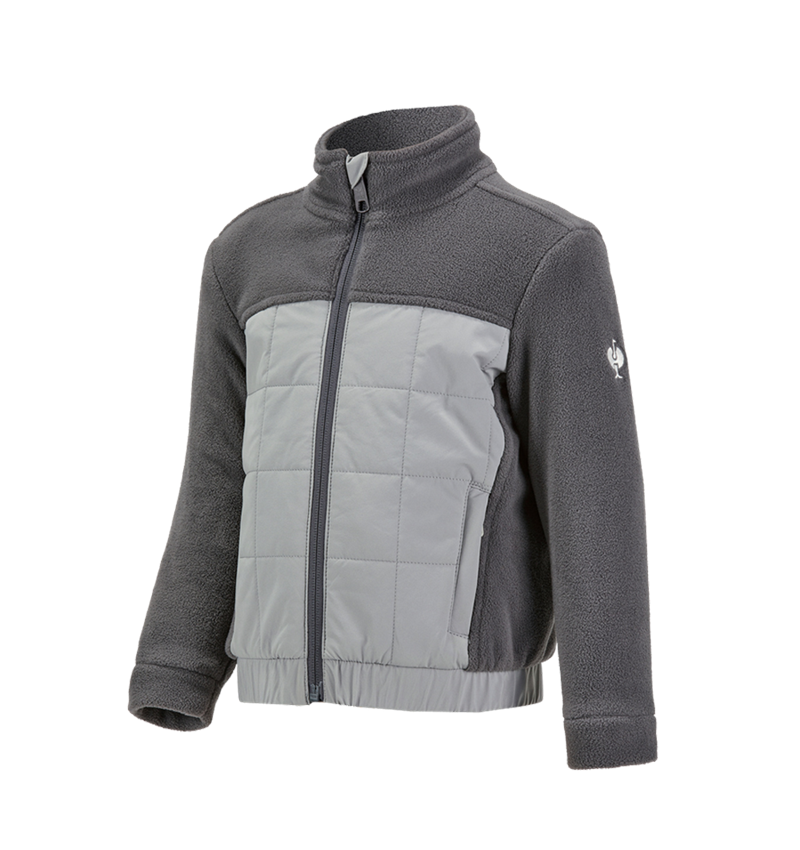 Bundy: Fleecová bunda hybrid e.s.concrete, dětská + antracit/perlově šedá