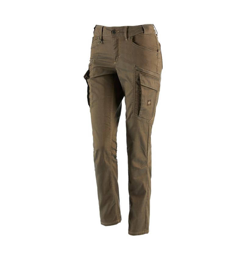 Pracovní kalhoty: Cargo kalhoty e.s.vintage, dámské + sépiová